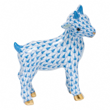 Herend Porcelain Fishnet Figurine of a Goatling